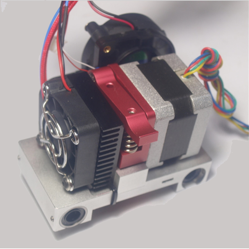 3D printer CTC metal extruder printer head completely set for 1.75mm filament 0.4mm nozzle Compatible with makerbot replicator autoleveling dual nozzle aluminium extrusion 3d printer kit ei3 3d printer with 2rolls filament 8gb sd card as gift