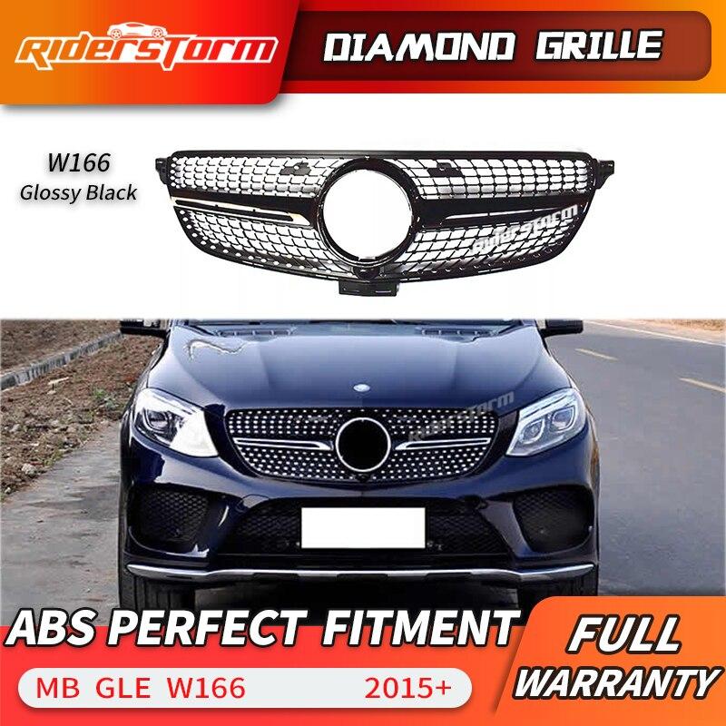 12.12 di promozione Per La Classe GLE W166 w292 Diamante Griglia 4 Matic Griglia Anteriore per Mercedes Benz GLE300 GLE320 GLE350 diamante griglia