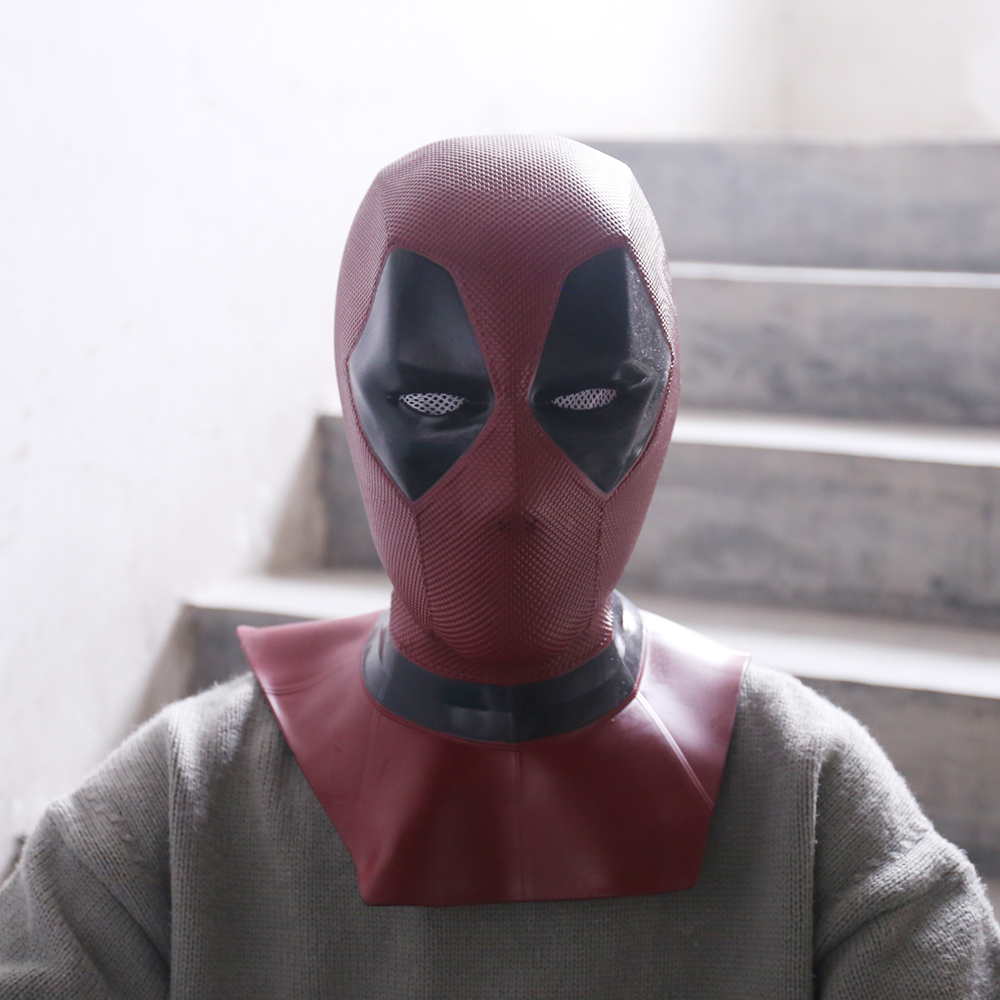 2018 New Moive Deadpool 2 Mask Breathable PVC Full Face Mask Halloween Cosplay Props Wholesale Hood