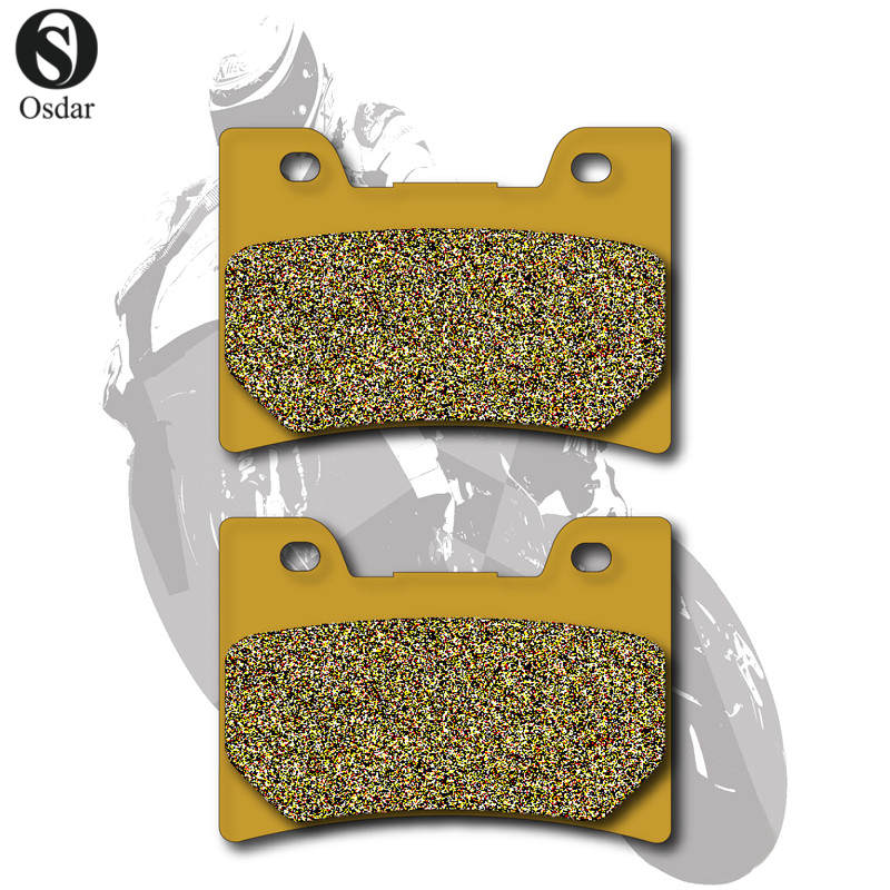 Motorcycle Brake Pads Front For YAMAHA FZR 400 87-89 FZR 600 90-99 YZF 600 95-96 FZR 750 87-88 FZ 750 89-91 TDM 850 91-01 rear brake calipers and pads metallic for yamaha fzr400 1988 1990 1989 fzr 400 88 89 90 new