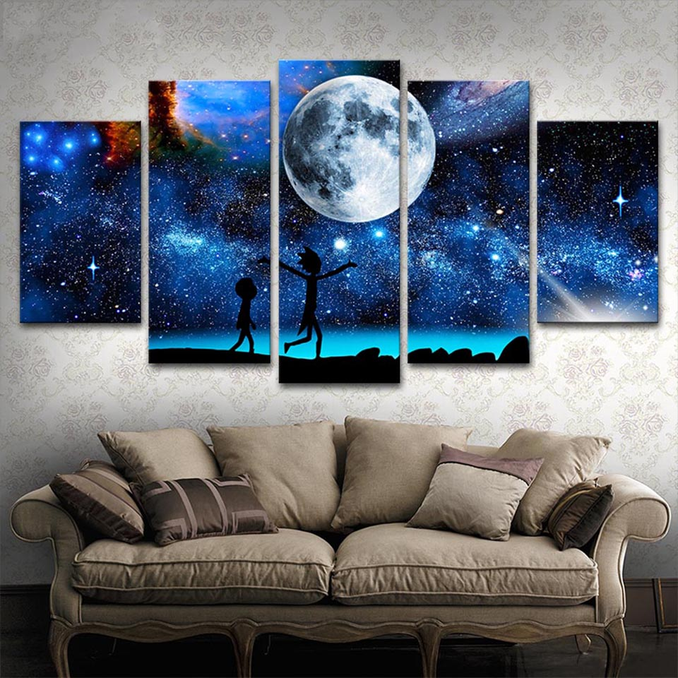 Home Decor Hd Printed Paintings Modular Posters 5 Panel