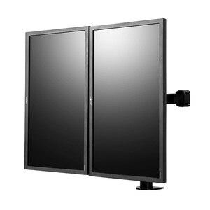 """Image 4 - Çift monitör standı kolları tamamen ayarlanabilir masaüstü iki LCD monitör duvara monte ekran standı için 10 """" 30"""" Max destek 10KG kol başına"""