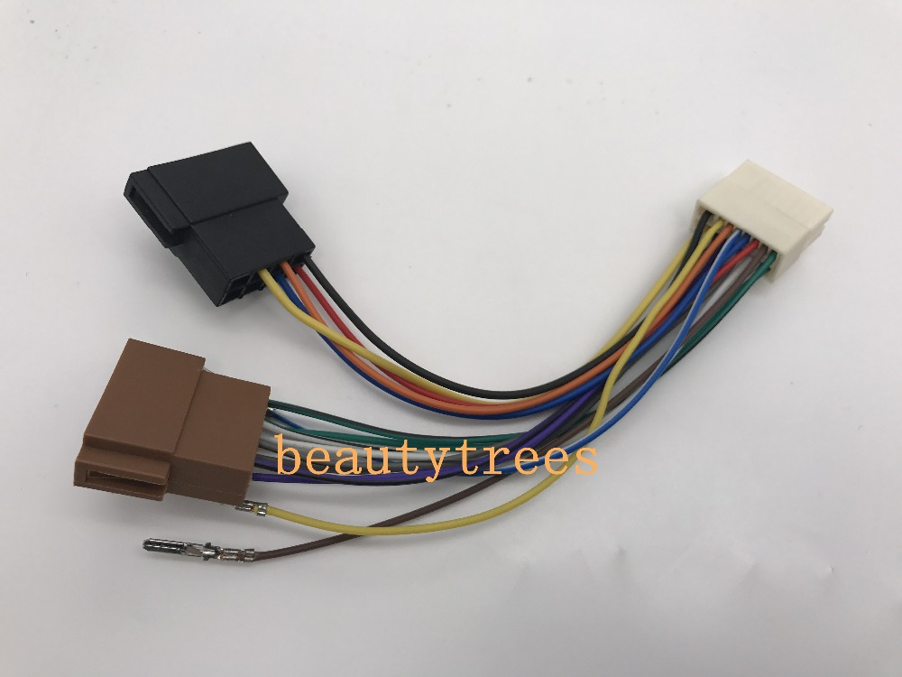 ISO standard HARNESS FOR CLARION Car Wiring Harness Adapter Connector cable Car Adaptor plug 15 102 aliexpress com buy iso standard harness for clarion car wiring clarion wiring harness adapter at mifinder.co