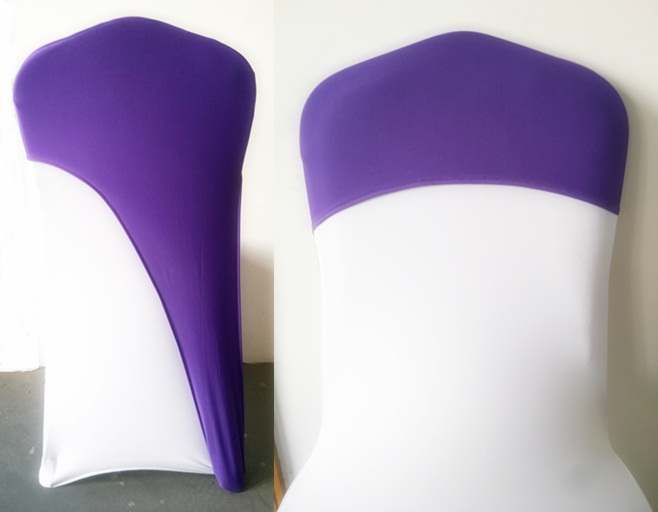 Aliexpress Com Buy Purple Colour Chair Caps For Weddings