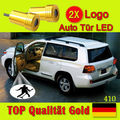 2x Lâmpada LED logotipo do carro Santo Sombra Projetor Porta acolher luz para Chevrolet Corvette SRT Batman ALPINA SOUNDSTREAM