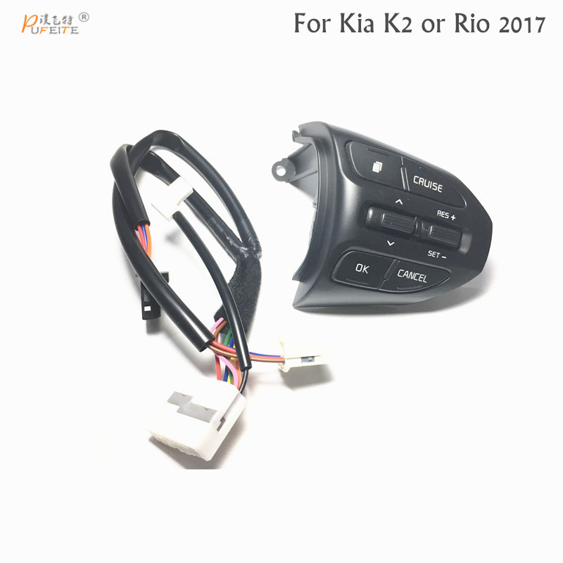 Free shipping Steering Wheel Button For KIA K2 RIO 2016 2017 Cruise Control Button Switch