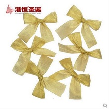 New Creative Christmas Ornament Crafts Cute Bowknot Xmas Tree Hanging Bows For Festival Decoration Gagh