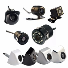 Hippcron Auto Videocamera vista posteriore 4 LED Night Vision Telecamera di Retromarcia Parcheggio per Automobili Monitor CCD Impermeabile 170 Gradi HD Video(China)