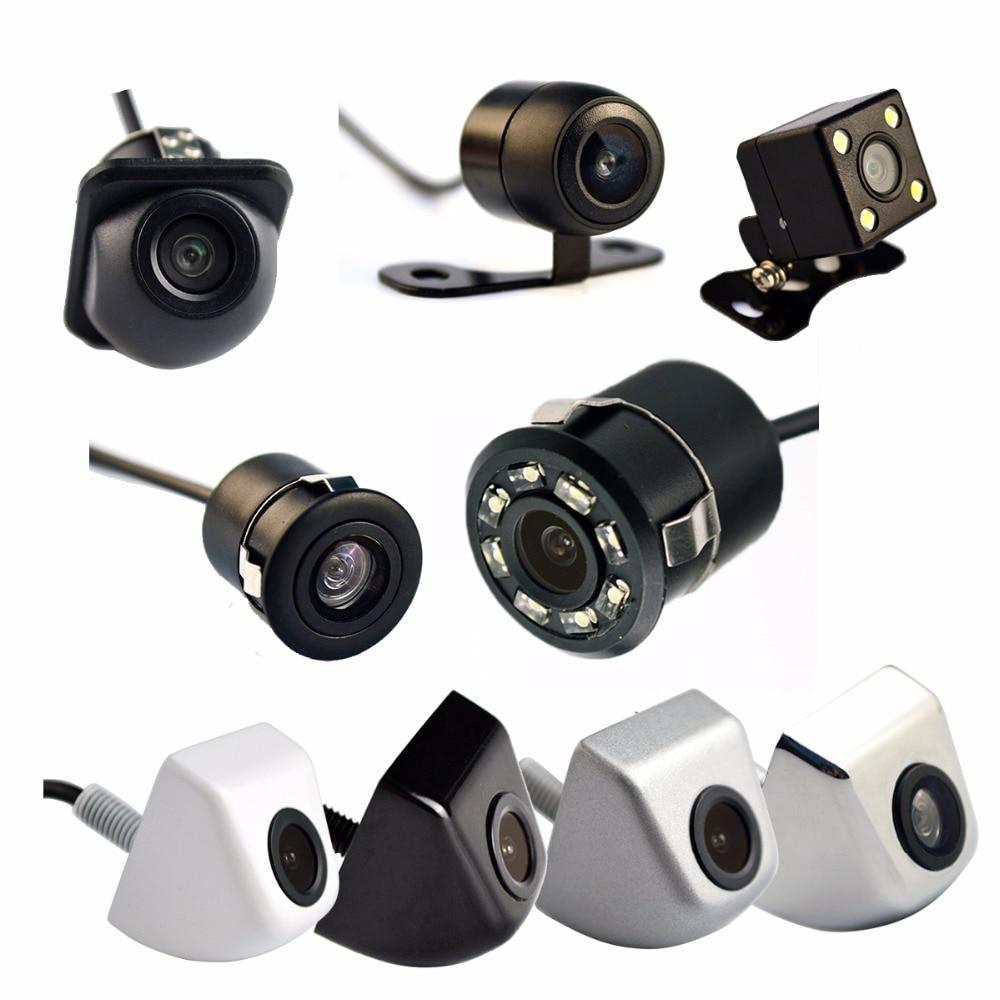 Hippcron Auto Videocamera vista posteriore 4 LED Night Vision Telecamera di Retromarcia Parcheggio per Automobili Monitor CCD Impermeabile 170 Gradi HD Video