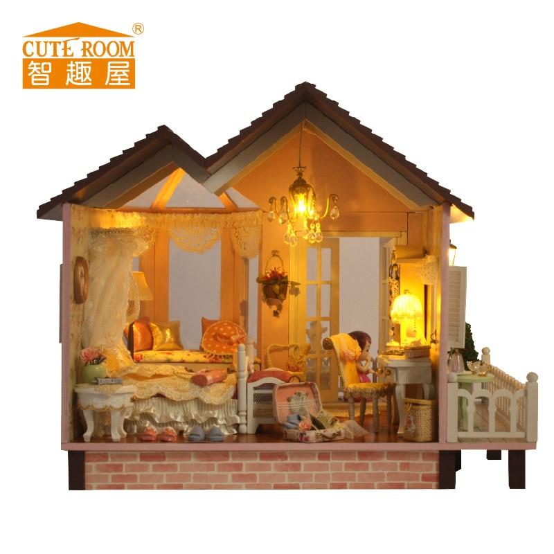 ФОТО DIY Kits - Large Villa Dollhouse& Furniture/Accessories/English Instruction DOLLS HOUSE