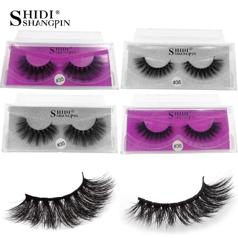 bb0b1d63096 SHIDISHANGPIN 1 Pair mink eyelashes natural long 3d eyelashes 3d mink lashes  hand made makeup false