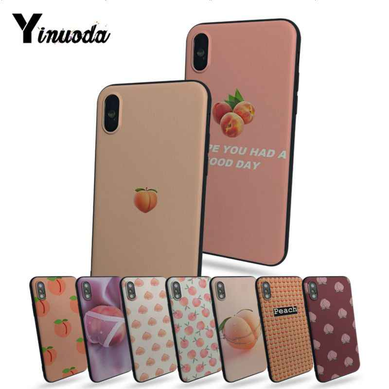 Yinuoda Pink peach print Phone Accessories Case For iphone 7 7plus X 8 8plus And 5 5s 6s 6s Plus iPhone 11pro Mobile phone cover