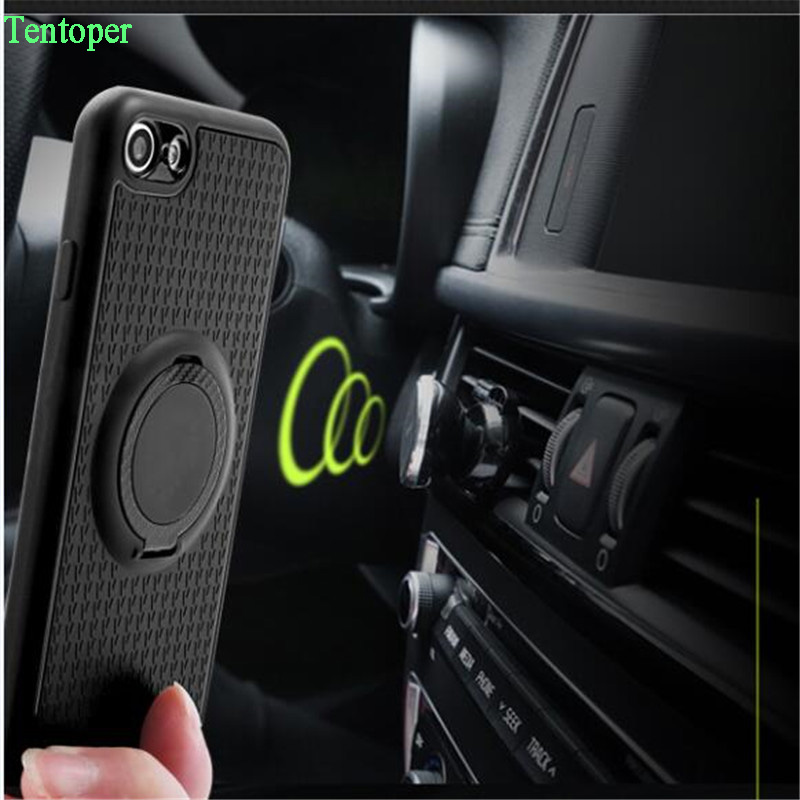 Magnetic Suction Phone Case For iPhone X 8 7 Plus 6 5s se Luxury Ring Holder Cover For Samsung S9 S8 Plus A5 2017 Redmi5 Note4x