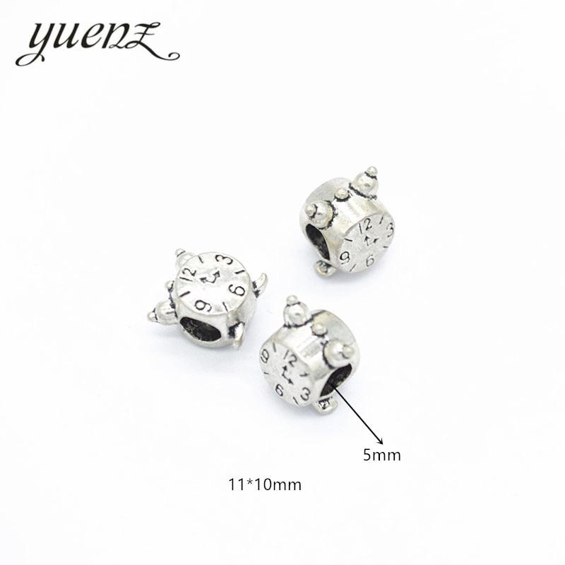 8Pcs Antiqued Silver Round Spacer Beads fit European Charm Bracelets 10mm