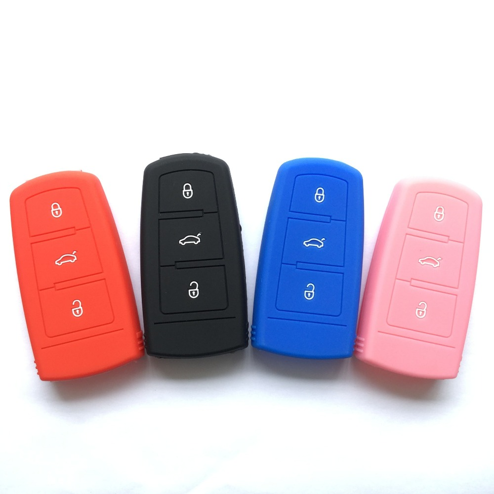 PINK Dodge Chrysler Jeep 3 buttons Key Fob Cover Jacket Silicon Protection