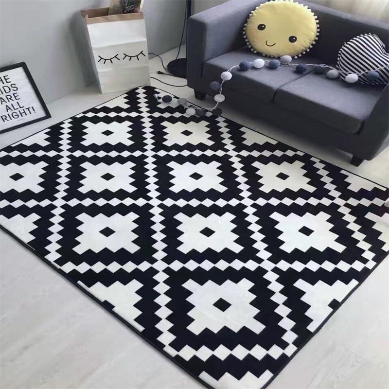 Fashion Rhombus Cartoon Floor Bathroom Foot Yoga Play Mat Hallway Living Room Bedroom Decorative Carpet Area