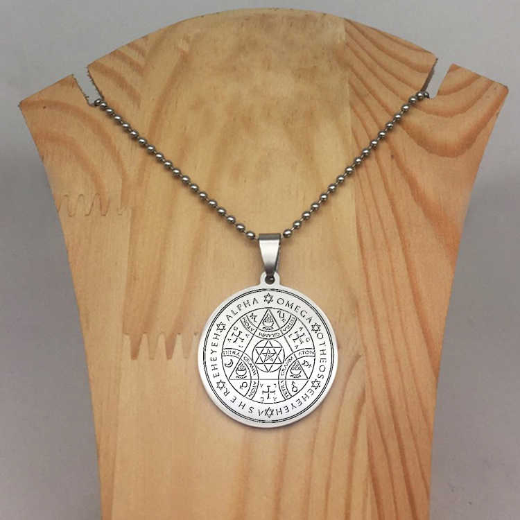 Disc Pendant Necklace Sigil Magic Wicca Pendant Seals Of The Seven  Archangels Necklaces Jewelry Best Gift for You YP6716