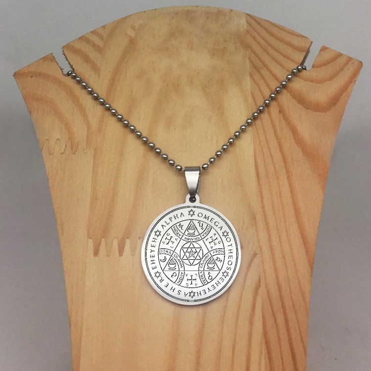 Naszyjnik z krążkiem Sigil Magic Wicca zawieszki z siedmiu archaniołów naszyjniki biżuteria najlepszy prezent dla ciebie YP6716