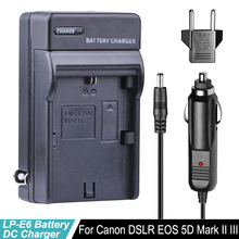 LP-E6 LPE6 LP E6 LP-E6N Car Charger + EU Plug Fit for Canon EOS 5D Mark 2 3 II III 5DS 5DS R 6D 7D 7D Mark II 60D 60Da 70D 80D thibault cauvin thibault cauvin cities ii 2 lp