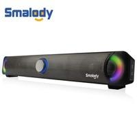 Smalody Multimedia Speaker Soundbar HIFI Powerful Sound Box Subwoofer Stereo Speakers Soundbar For Laptop Computer Notebook PC