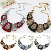 Bluelans Women's Concise Fan Shape Alloy Choker Necklace Short Chain Neck Jewelry Gift