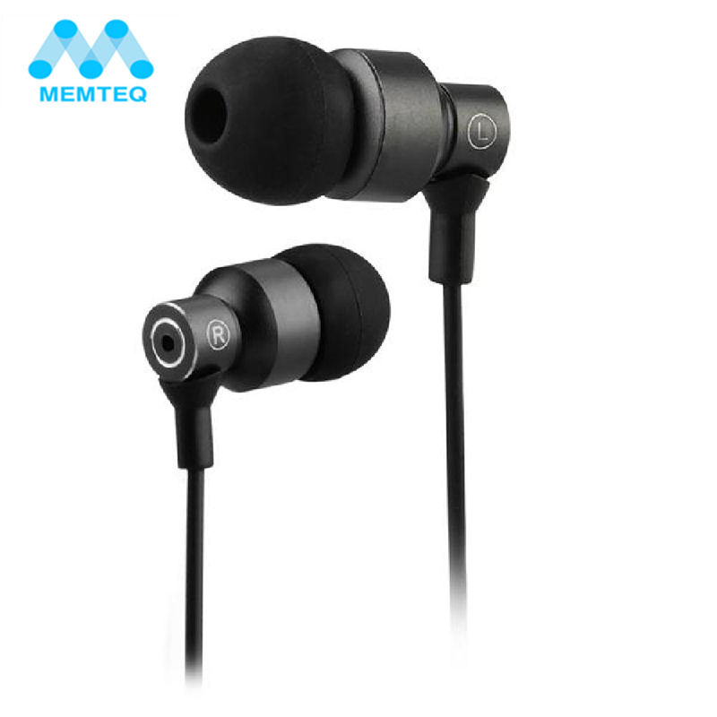 MEMTEQ 3.5mm In-ear Noise Cancelling Earphone Stereo Earbuds Graphene Earphones for mobile phones For Samsung Huawei Xiaomi
