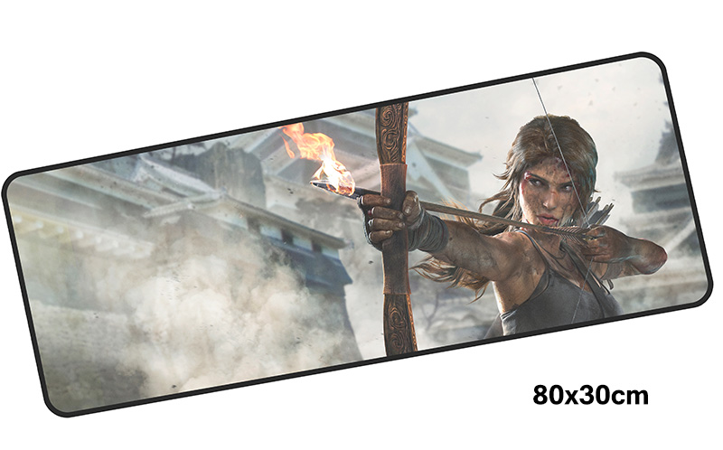 tomb raider mousepad gamer 800x300X3MM gaming mouse pad large Gorgeous notebook pc accessories laptop padmouse ergonomic mat