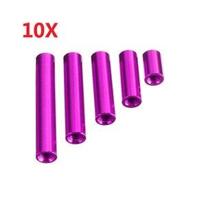 10pcs/set M3AR8 M3 10/20/25/30/35mm Purp