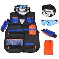 ChildrenBlack Taktische waffe Zubehör Weste Ammo Halter Elite Pistole Kugeln Spielzeug Clip Darts für Nerf mit maske Brille