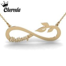 23f63735a Chereda New Fashion Unique Name Necklaces For Women Men Personality Pendant  Classic Tail Shape Jewelry Birthday Bar Accessories