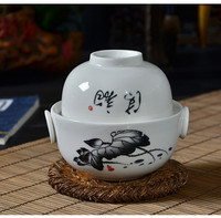 150CC Chinese Ceramic Tea Set Travel Teapot With Cup Drinkware Quik Cup Easy Bubble Blue And