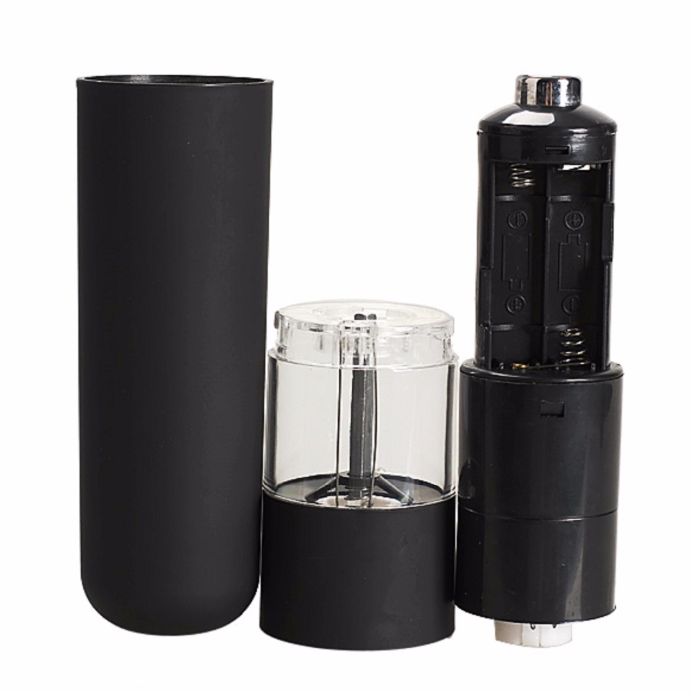 Electric Salt Spice Pepper Herb Mills Grinder with LED Light Black ABS Plastic Home Restaurant Hotels Kitchen Grinder Tools