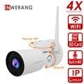 Inwerang 4X HD 1080 p WiFi IP Security Kamera Außen 2 8 12mm Wasserdichte Nachtsicht Home Security CCTV kamera Gebaut in Mic-in Überwachungskameras aus Sicherheit und Schutz bei