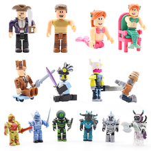 купить Hot 6pcs/set Action Figure Toys Blocks Jugetes 7cm PVC Block Action Figures Game Toys For Children Birthday Gift Toys For Kid#E дешево