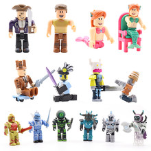 Hot 6pcs/set Roblox-game Figure Toys Blocks Jugetes 7cm PVC Action Figures Roblox Game Toys For Children Birthday Gift #E(China)
