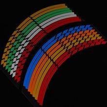 6 цветов на выбор, 16 полосок, наклейка на колеса, светоотражающая лента на обод, лента на велосипед, мотоцикл, 16, 17, 18 дюймов, наклейка, s аксессуар