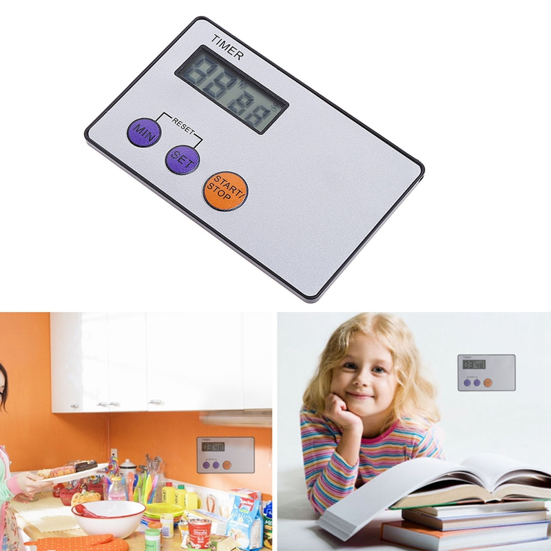 Timer Pocket Kitchen Cooking Countdown Rest Sports Credit Card Size Study