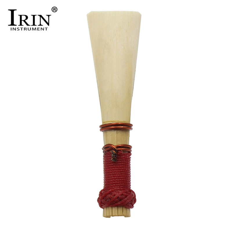 IRIN 1 Piece Medium Strength Bassoon Reed with Case Holder Bassoon Accessories Wood color+red Reeds Music Instruments Parts