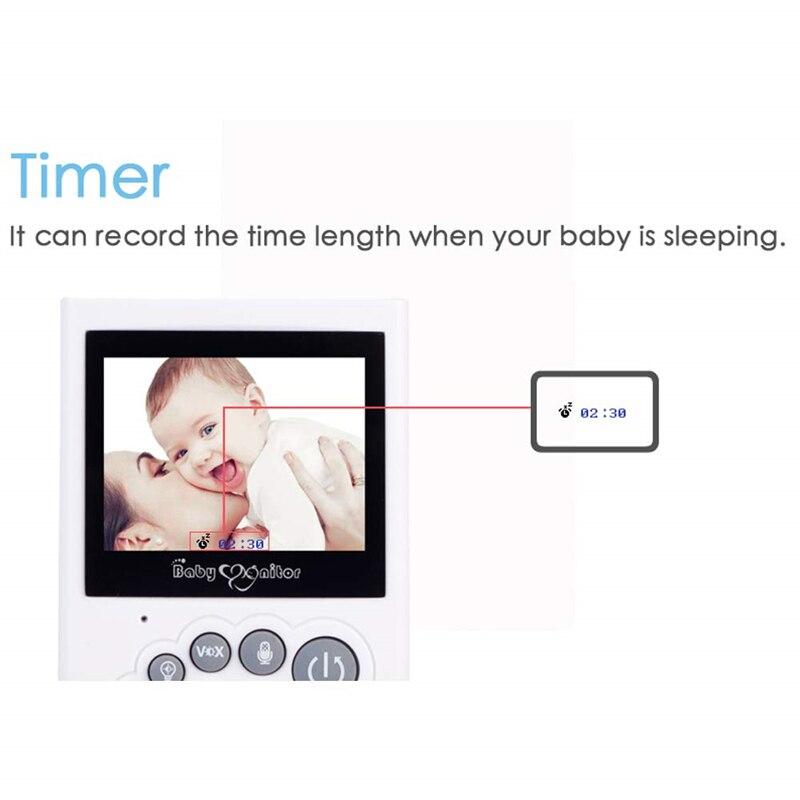 Vision nocturne sans fil couleur Lcd Audio vidéo Babymonitor sommeil Bebe bébé téléphone Radio nounou caméra moniteur sécurité bébé moniteur - 2