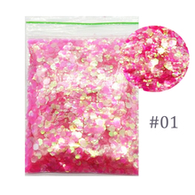 IRIDESCENT PINK | FACE, HAIR AND BODY GLITTER 50G 25 COLORS  FLAKES Cosmic NAIL Glitter MIX SIZE RAINBOW Nail Art Acrylic Gel