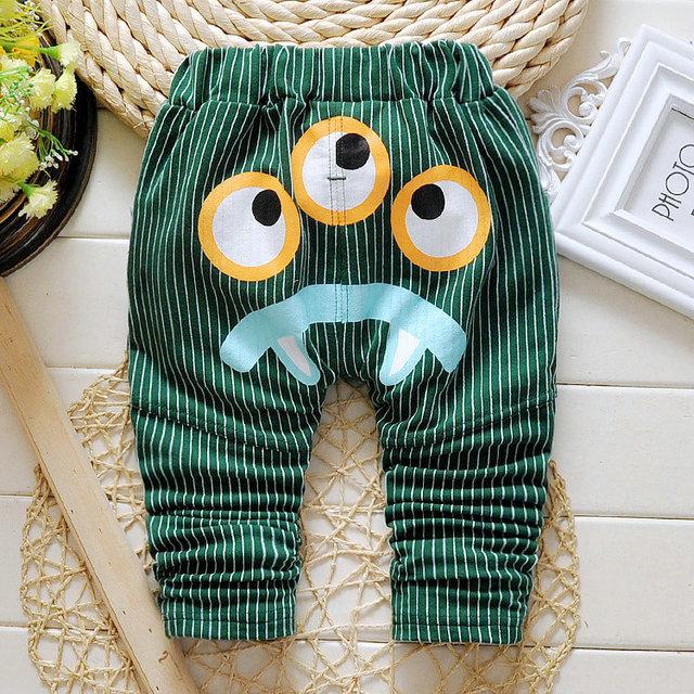 2016 Nueva Primavera y Otoño los pantalones del bebé 4 de color patrón de estrella de Algodón niños pantalones del bebé pantalones de niño