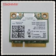 بطاقة واي فاي PCI E صغيرة 7260 لاسلكية N Intel 7260HMW BN 802.11bgn 300Mbps بلوتوث 4.0