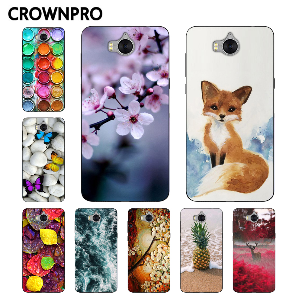CROWNPRO sFOR <font><b>Huawei</b></font> Y5 <font><b>2017</b></font> <font><b>Case</b></font> Cover <font><b>Silicone</b></font> Soft TPU <font><b>Y6</b></font> <font><b>2017</b></font> Mya-L22 <font><b>Cases</b></font> Phone Back Protector FOR <font><b>Huawei</b></font> Y5 <font><b>2017</b></font> Fundas image