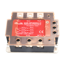 цена SSR-3PH60DA-H Factory LED Panel Three 3 Phase AC Solid State Relay  Input 4-32VDC Output 90-480VAC 60A DC control AC SSR Relay онлайн в 2017 году