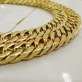 "8-40"" 10mm New Charming 316L Stainless Steel  Gold Plated Curb Cuban Chain Mens Boys Necklace&Bracelet Fashion Jewelry Top"
