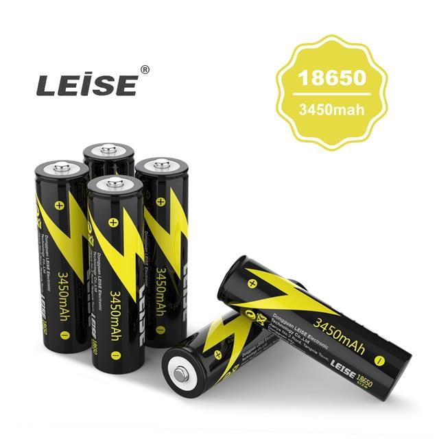 Leise New 3.7 v 3450 mah 18650 Lithium Có Thể Sạc Lại Pin Li-Ion Ngân Hàng Điện 18650 Pin Cho Đèn Pin đèn pha pin