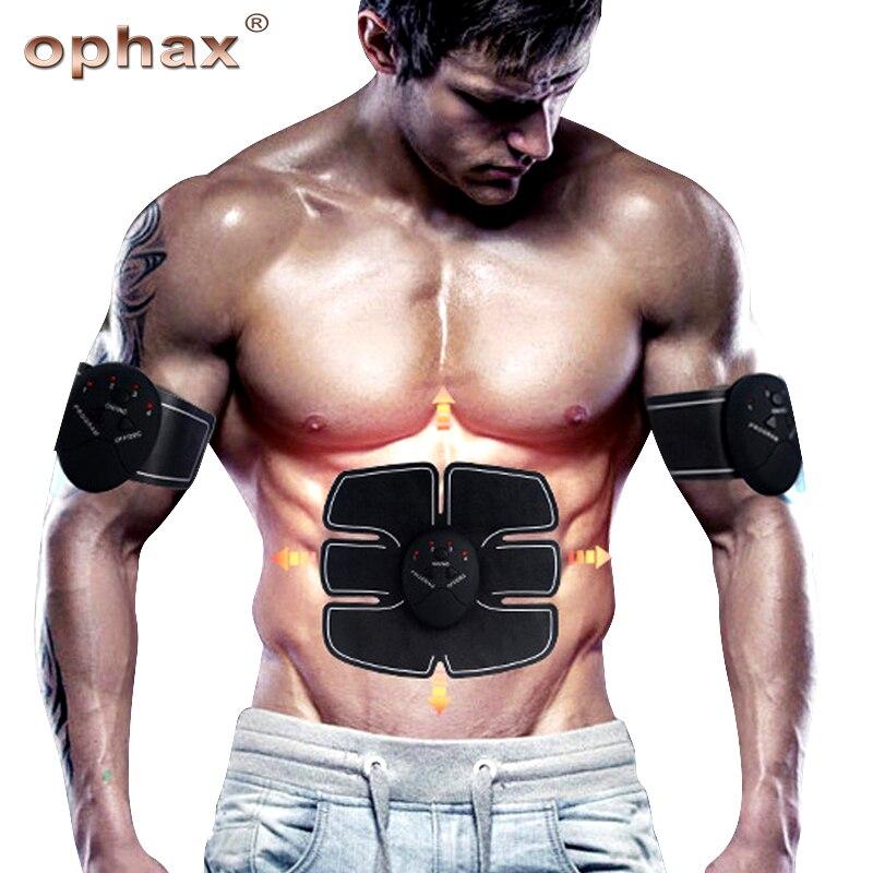 Allenatore di Stimolazione elettrica dei Muscoli ABS Stimolatore SME Che Dimagrisce Macchina Dispositivo di Addestramento Muscolo Addominale Ginnico Massager