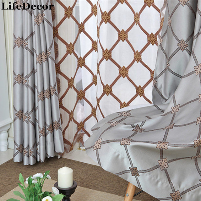 Blau Diamant Muster Modernen Amerikanischen Hochwertige Maßgeschneiderte  Vorhang Studie Schlafzimmer Wohnzimmer Vorhänge