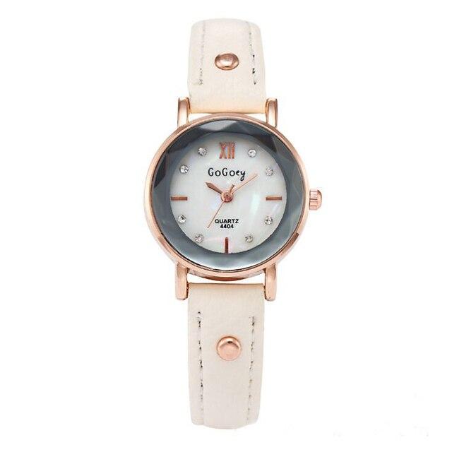 b16bd2429aa Chegam novas marca Gogoey relógios de couro das senhoras das mulheres  strass Vestido de Quartzo Relógio de Pulso Relogio feminino go4404R  11