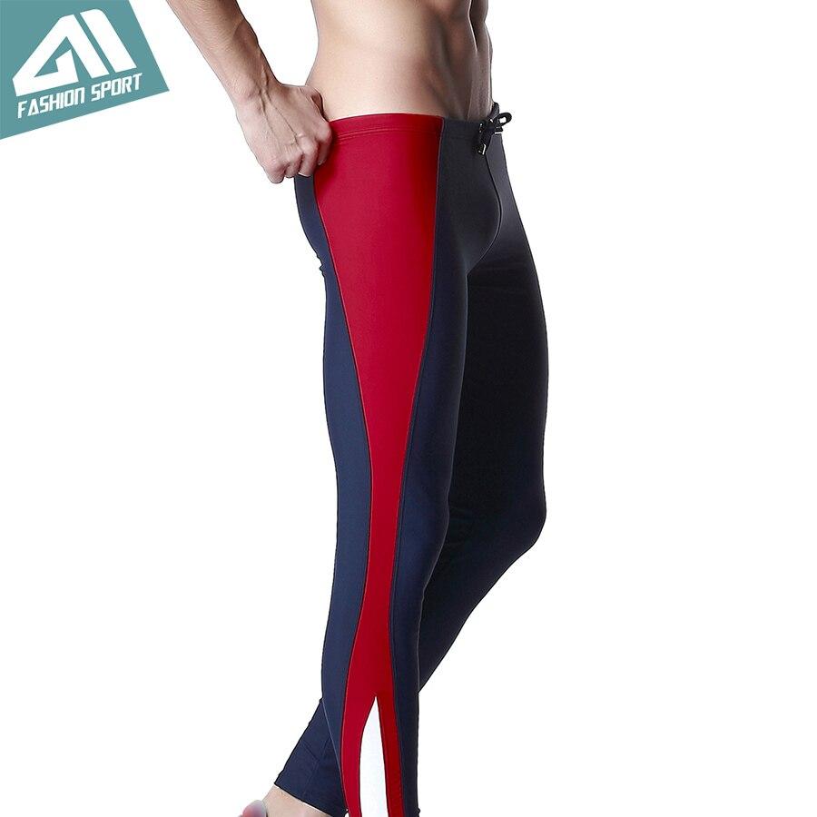 DESMIIT Men's Long Swimwear Athletic Triathlon Tights Fitness Swimming Pants Gym Running Biking Workout Pants for Men DT26